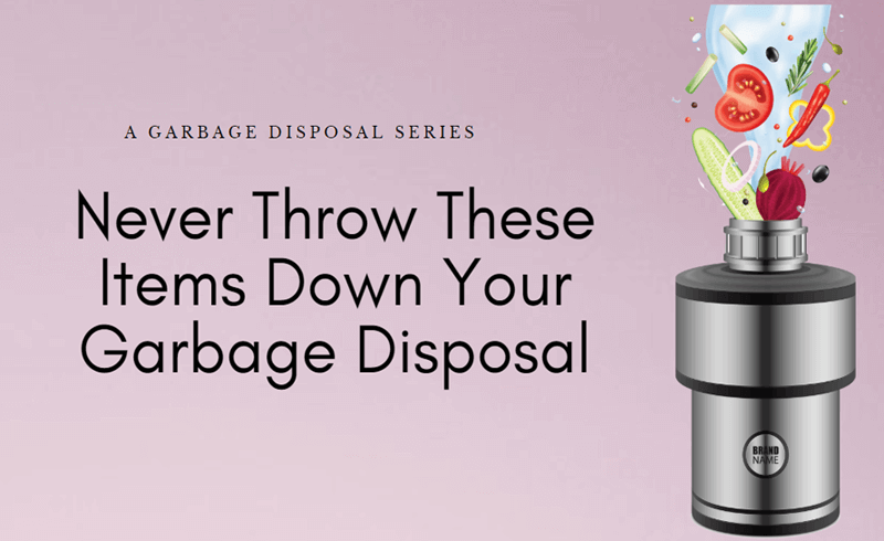 Never Throw These Items Down Your Garbage Disposal