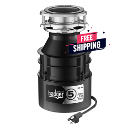 InsinkErator BADGER 5 With CORD 1/2 HP GARBAGE DISPOSAL With Power Cord