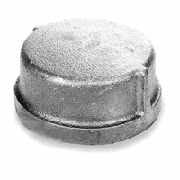 "1"" 3/4"" Galvanized Malleable End Cap"