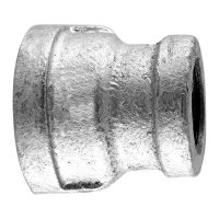 "4"" X 4"" X 2"" Threaded Galvanized Maleable Tee"