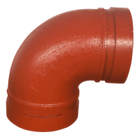 "5"" LONG GROOVED 90 DEGREE ELBOW"