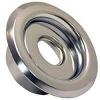 "1/2"" REC ESCUTCHEON CANOPY CHROME 2PC"