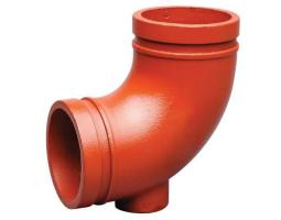 Grooved 90 Drain Bend w-1 Outlet